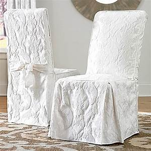 sure fitr matelasse damask 1 piece long arm dining chair With arm chair covers for sale