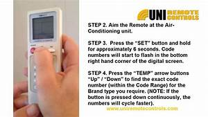 Universal Air-condition Remote Control Instructions
