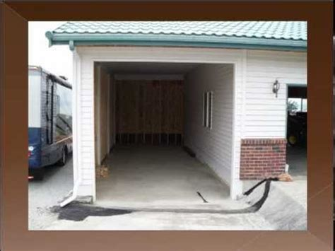 Add Garage Door To Carport by Attached Garage Addition To The Existing Carport