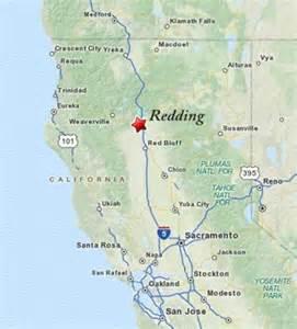 California Map Redding CA