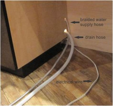 installing  dishwasher