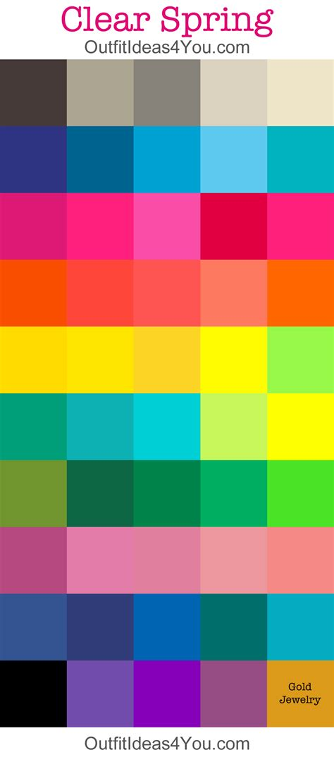 bright color palette clear color palette my style and