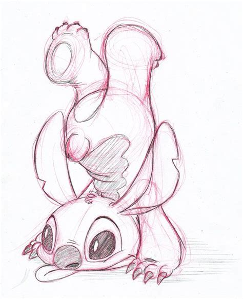 cute sketch  stitch fan art disney drawings