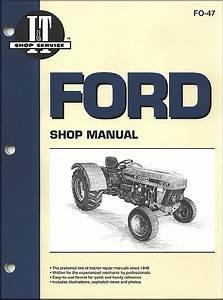 Ford Tractor Repair Manual Diesel Models 3230  3430  3930