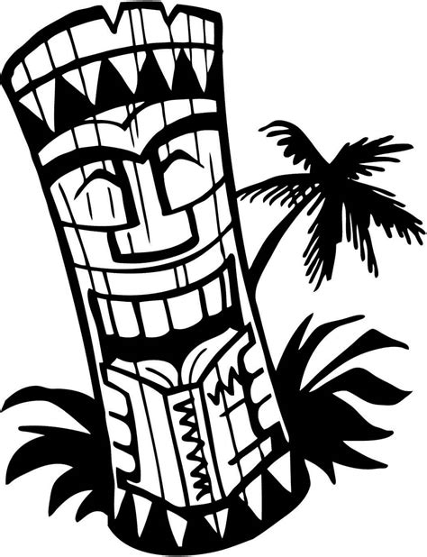 printable tiki coloring pages coloring junction