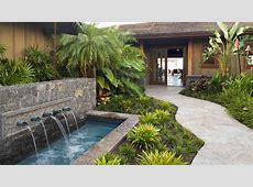 1920x1080 Beautiful Hawaiian Zen Garden With Waterfall And