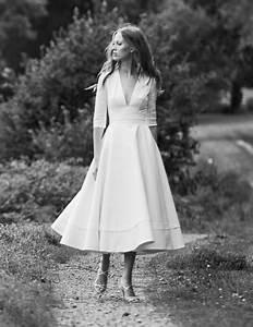 Robe Mi Longue Mariage : robe mariage civil mi longue ~ Melissatoandfro.com Idées de Décoration