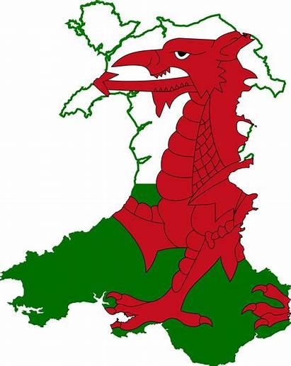 Wales Flag Map Svg 1170 Pixels Nominally