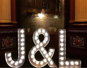 gallery wedding letter hire With wedding letter lights