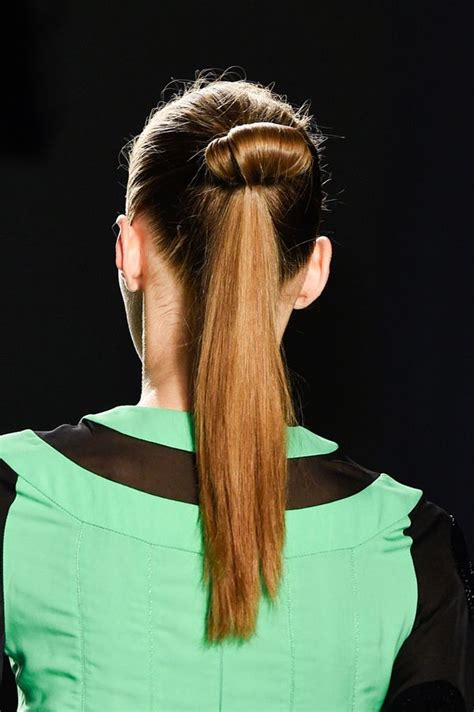 ponytail trends fashion week