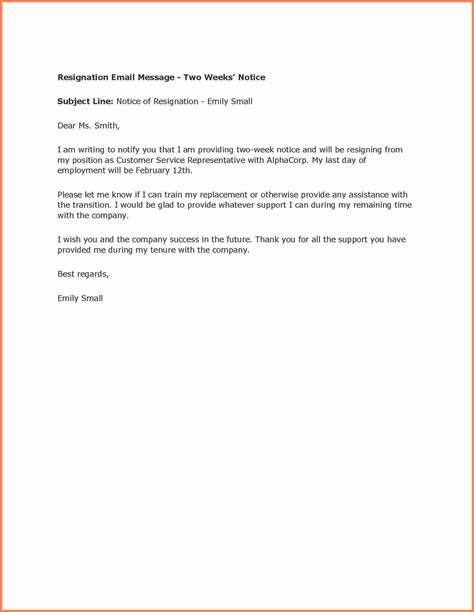 simple resignation letter  weeks notice notice letter