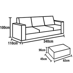sofa tres lugares dimensoes sof 225 3 lugares retr 225 til american comfort canad 225 puff