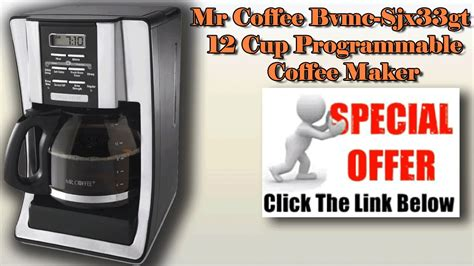 Led touch display select the start time, cup size, and brew strength by simply touching the icons on the display strong brew selector: Mr Coffee Bvmc Sjx33gt - Mr Coffee 12 Cup Programmable Coffee Maker - YouTube