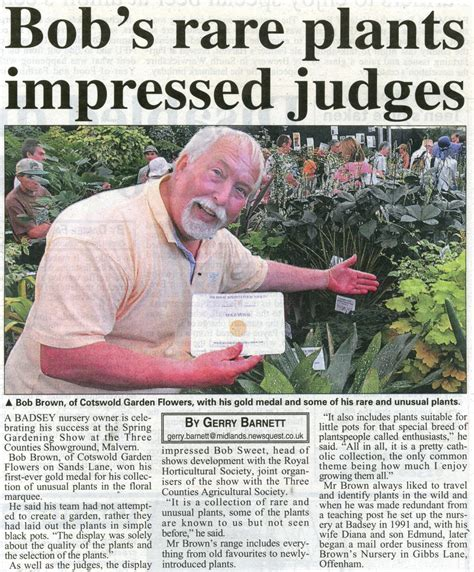 garden article badsey sands lane cotswold garden flowers news article 2008 may 22 bob s rare plants