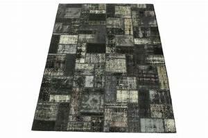 Teppich Schwarz Weiß : patchwork teppich schwarz wei in 240x180cm moderne ~ A.2002-acura-tl-radio.info Haus und Dekorationen