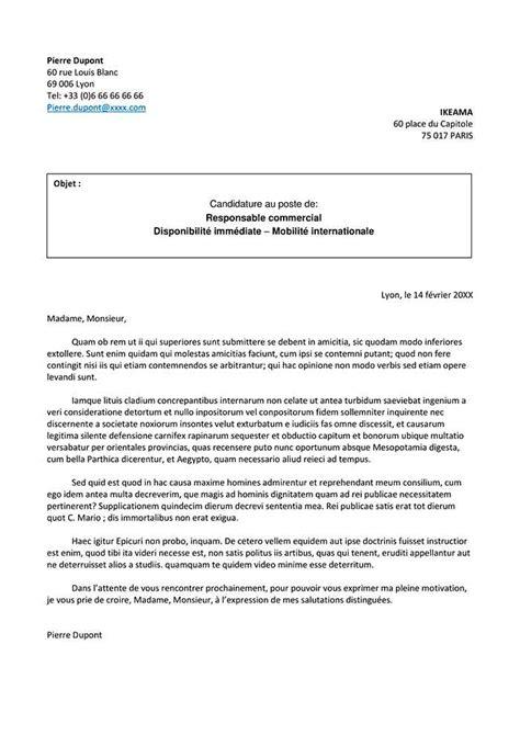 Cv Lettre by Exemple De Lettre De Motivation Pour Un Master Lettres