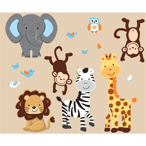 Safari Wall Decals For Nursery Thenurseries