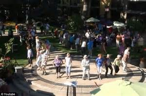 Elderly man organizes flashmob with dancers aged 60 and ...