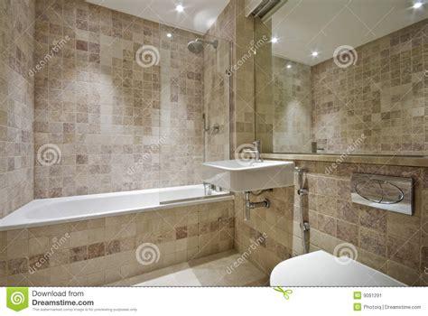 tuiles en pierre normales contemporaines de salle de bains