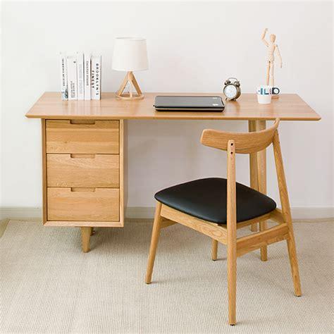 bureau en ch麩e massif nordic bois massif pur chêne bureau 1 4 m moderne et minimaliste ordinateur de bureau