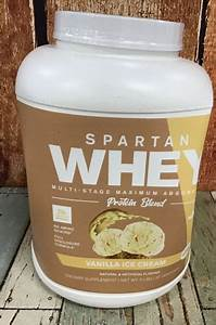 Spartan Whey Protein Blend Vanilla Ice Cream 5 Lbs Exp 09  2020 Vs