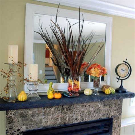 great thanksgiving mantel decorating ideas shelterness