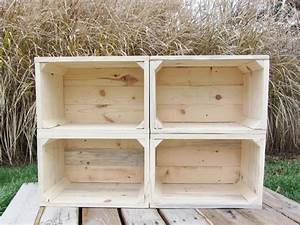 Hand Crafted Small Wood Crate Stackable Made From