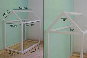 Kinderbett Haus 90x200 : hausbett selbst bauen bauanleitung f r ein kinder floor bed ~ Indierocktalk.com Haus und Dekorationen