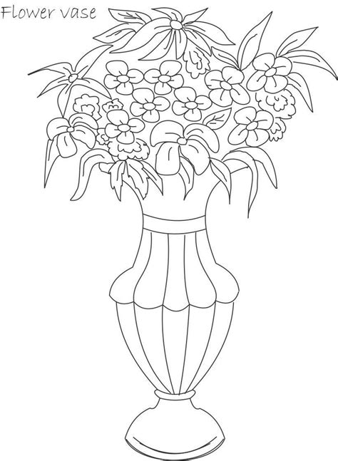 Flower-pot-coloring | Patterns: Art, Needlework, Stained