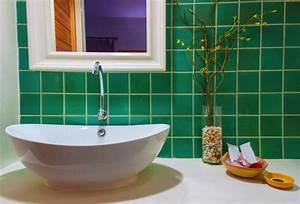 stunning salle de bain vert pistache pictures awesome With carrelage gris couleur mur 5 salle de bains verte 125 idees pour vous convaincre