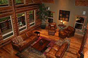 Decoration ideas excellent pictures of log cabin home for Wooden log home interior decorating ideas