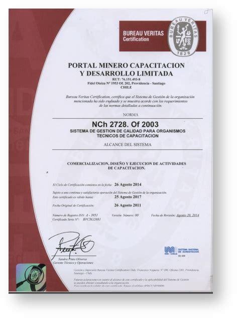 certificaciones capacitaci 243 n comunidad portal minero
