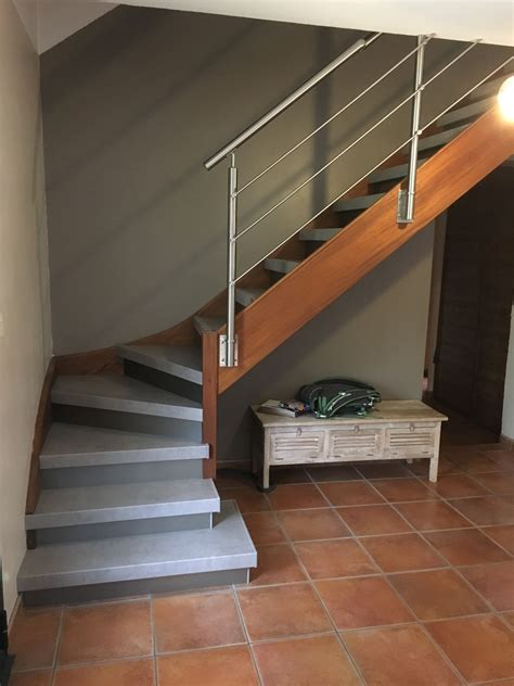 moderniser escalier en bois balustrade inox bross 233 aflopro styl stair