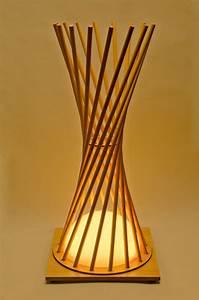 Hyperbola lighting wooden lamp hearth pinterest for Used wood floor lamp