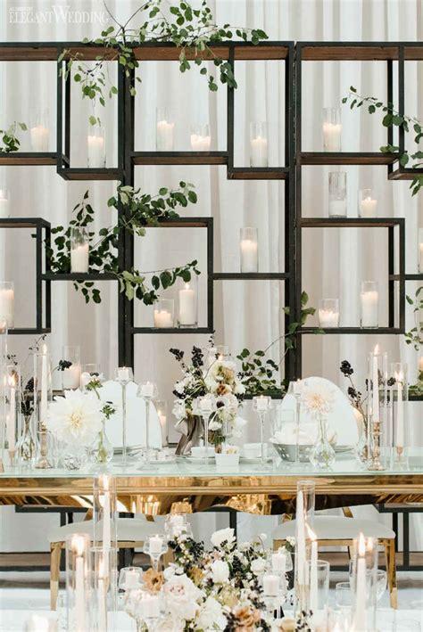 modern black  white wedding white wedding decorations