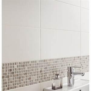 carrelage mural loft en faience blanc ivoire n5 20 x 50 With carrelage adhesif salle de bain avec eclairage led terrasse