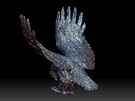 eagle sculpture  model  printable obj cgtradercom