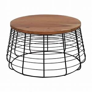 Cb2 coffee table home design for Wire round coffee table