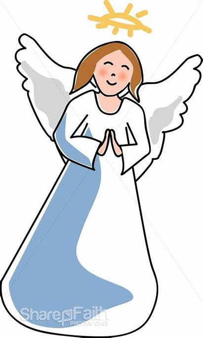 Angel Clipart Christmas Angle Angels Clip Child