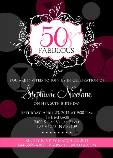 FREE Printable 50th Birthday Invitations for Women