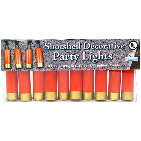 shotgun shell electric string lights country western