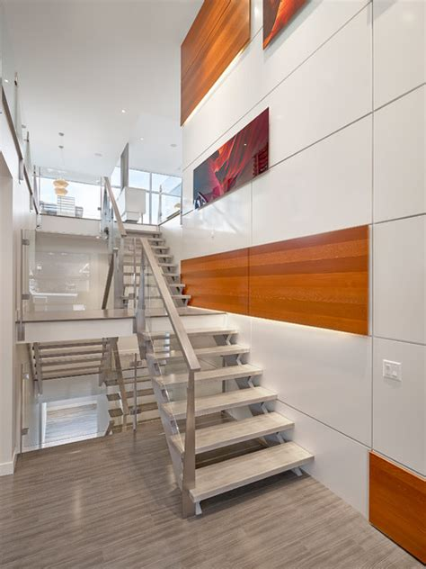 stairs  feature wall modern staircase edmonton