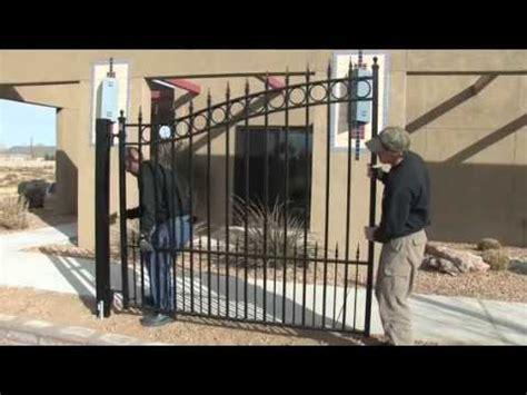 driveway gates installation video youtube