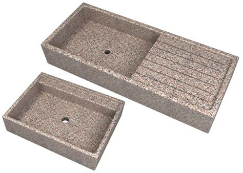 lavelli in cemento lavandini a tutta vasca e con posapiatti da esterno in