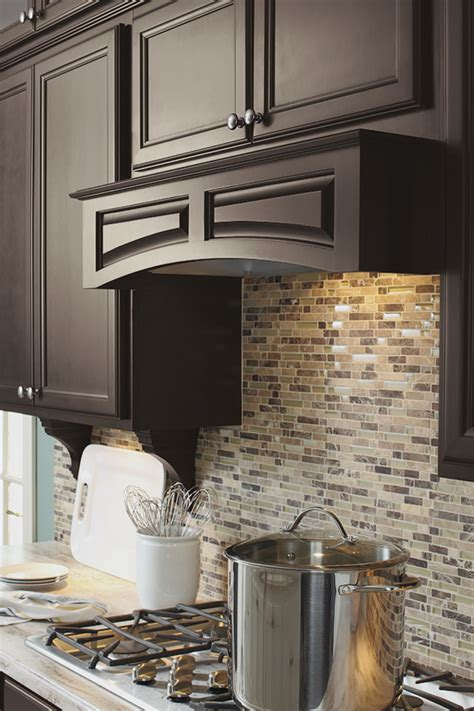 arched wood hood canopy kemper cabinetry