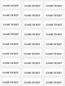 birthday carnival game tickets clip art at clkercom With carnival tickets template free printable