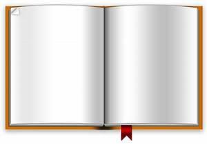 Open Blank Book PSD Template