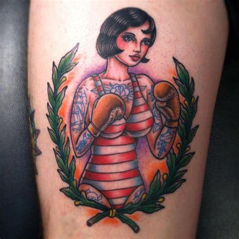 boxer school tatouage pin up et femme