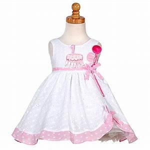 Baby Girls White Pink Balloon Boutique 1st Birthday Dress ...