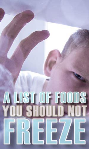 list  foods    freeze